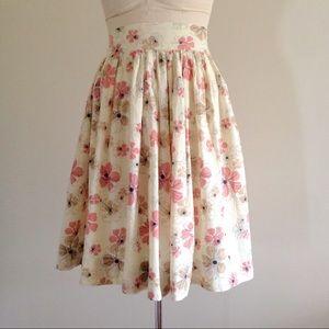 Light Cotton Floral Gathered Skirt
